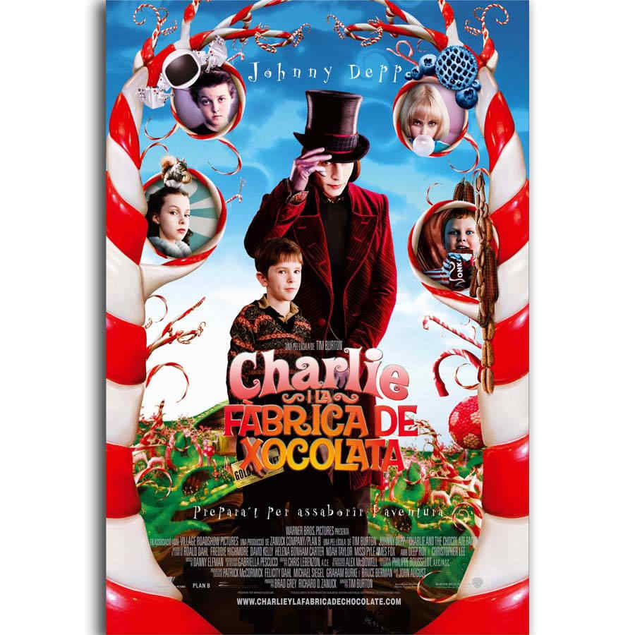S1034 Charlie and the Chocolate Factory Classci Movie Wall Art Painting Print On Silk Canvas Poster Home Decoration