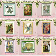 The peacock painting counted Cross Stitch 11 14CT Set Wholesale DIY nimals Cross-stitch Kit Embroidery Needlework