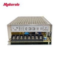 customized model D 150F15 15V 15V volt 120w dual output switching power supply 5A 5A dual output type can be customized