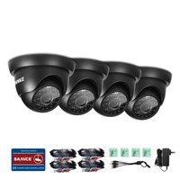 SANNCE 4x Bullet 800TVL CCTV Camera In Outdoor IR Security Surveillance System
