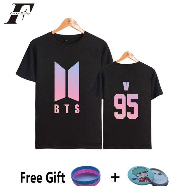 8b1263b95074 2017 BTS kpop fitness T-shirt Women men Korea Bangtan Boys T Shirt Cotton  Summer Funny T shirts camisa masculina plsu size