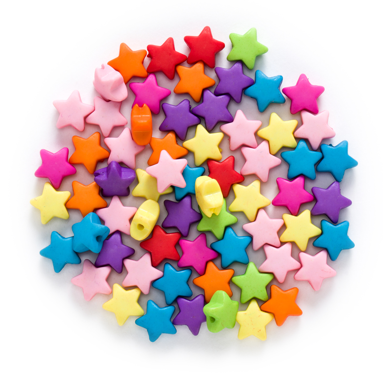 50 peça aleatória misturado multicolorido acrílico estrela achados jóias fazendo contas espaçador mulheres crianças diy pulseira colar 12x6mm