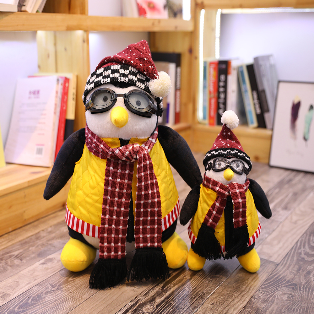 25cm and 45cm Serious Friends Joey's Friend Hugsy Plush Toy PENGUIN Rachel Soft Stuffed Doll Toys