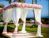 adjustable 3*3*3m square double tube crossbar of wedding piping frame , pipe and drape wedding arch, chuppah, backdrop stand