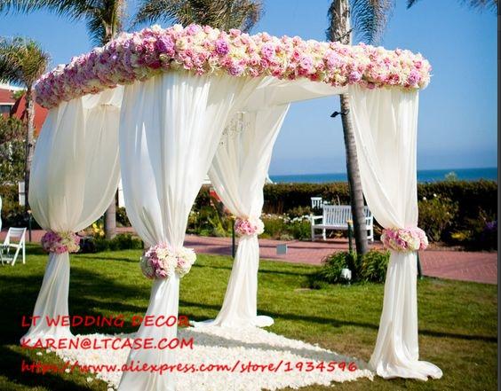 Adjustable 3 3 3m Square Double Tube Crossbar Of Wedding