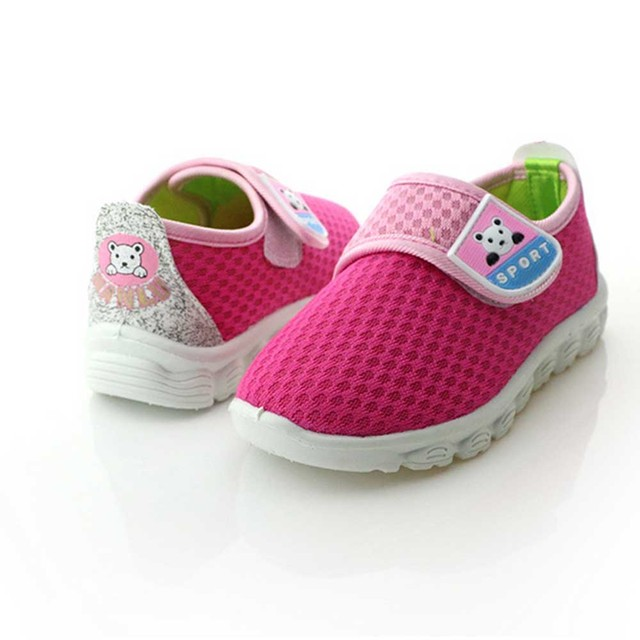 2016 New Children Mesh Casual Shoes Toddler Baby Magic Sticker Shoes Boys Girls Soft Bottom Leisure Running Sneakers 3 colors
