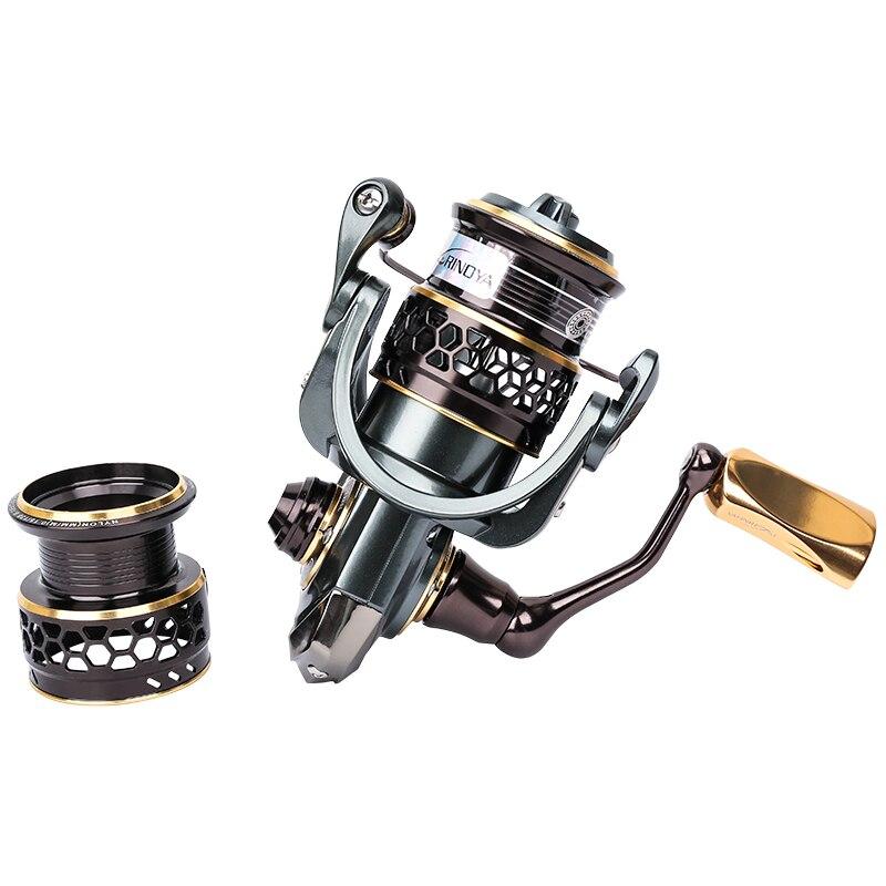 Le Fish TSURINOYA JAGUAR 1000 2000 3000 Double bobine 9 + 1BB en acier inoxydable portant un leurre de pêche Ultra-léger