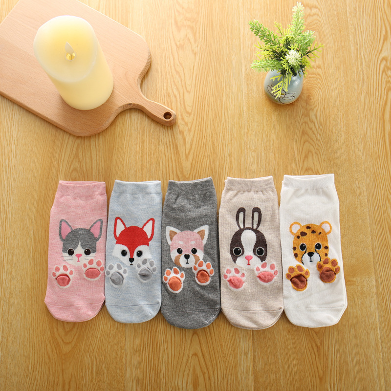 Winter Warm Thick Wool Women Cute Funny Animal Christmas Cotton Socks Fashion Casual Wool Knit Sock 1pair=2pcs Ws138