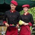 Chef Uniforme Desgaste de Manga Comprida Jaquetas de Chef Do Hotel Restaurante Chef Do Restaurante Roupas de Trabalho Desgaste Uniforme Do Cozinheiro Chefe do Sexo Masculino