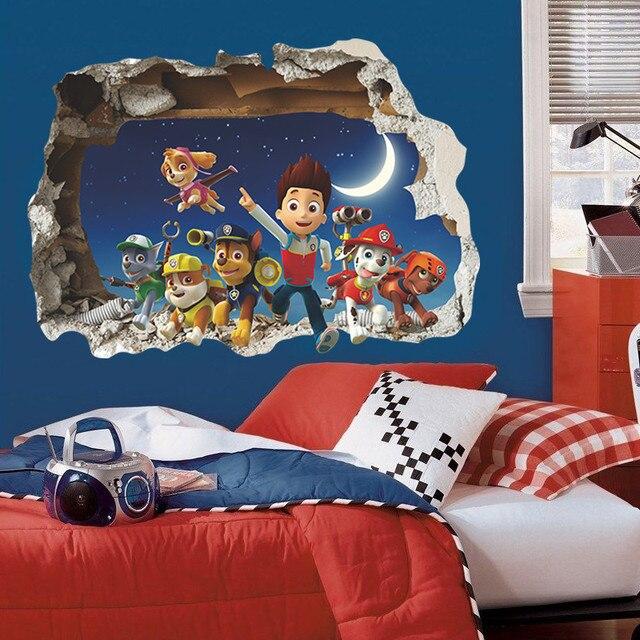 Filme dos desenhos animados adesivos de parede para quartos de crianças decoração adesivos quarto decalques decoração da sala quarto papel de parede sala de berçário