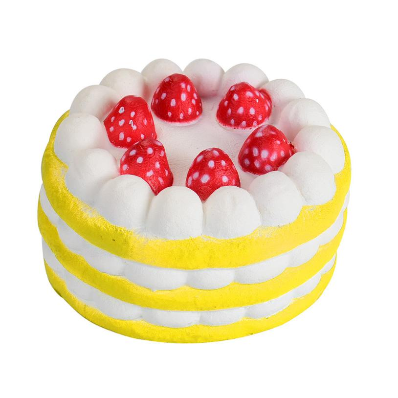Stress Reliever Strawberry Cake Scented Super Slow Rising Kids Toy Cut