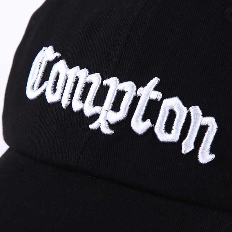 ... Fashion Black White Cotton Baseball Cap Letters Compton Hip Hop Hats  For Couple Lovers Sunscreen Bone ... d2b48c4cdb9f