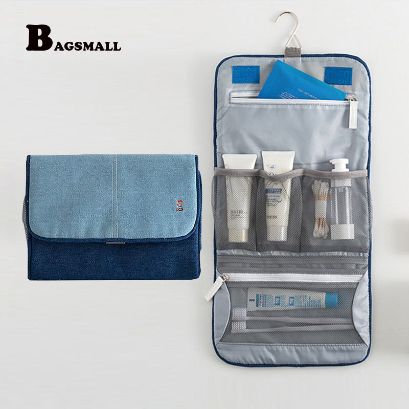 00a65553b8f0 BAGSMLL Hanging Cosmetic Bag Travel Toiletry Bag Portable Folding ...