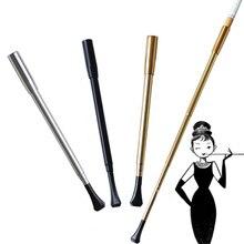 Женская Серия выдвижной винтажный держатель для сигарет металлическая курительная трубка реквизит для фотосъемки