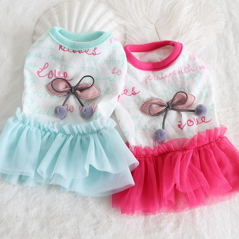Small XXS-<font><b>XS</b></font> Bow Tutu Pet <font><b>Dog</b></font> Clothes Summer <font><b>Dress</b></font> <font><b>Dog</b></font> Vest Cat <font><b>Dog</b></font> <font><b>Dress</b></font> Sun-top Bunny Pet <font><b>Dress</b></font> Clothing Puppy Chihuahua image