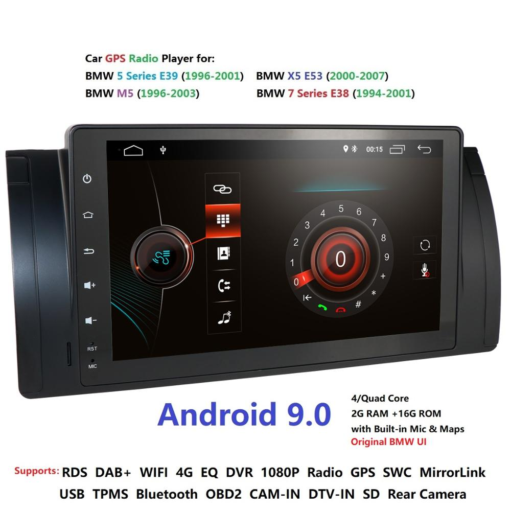 1din9''Android9.0 CarNODVD GPS for BMW E53 E39 X5 tuning parts M5 Accessories X5 E53 Navigation SWC DVR RDS DVBT BT 2GRAM 4GWIFI-in Car Multimedia Player from Automobiles & Motorcycles    1