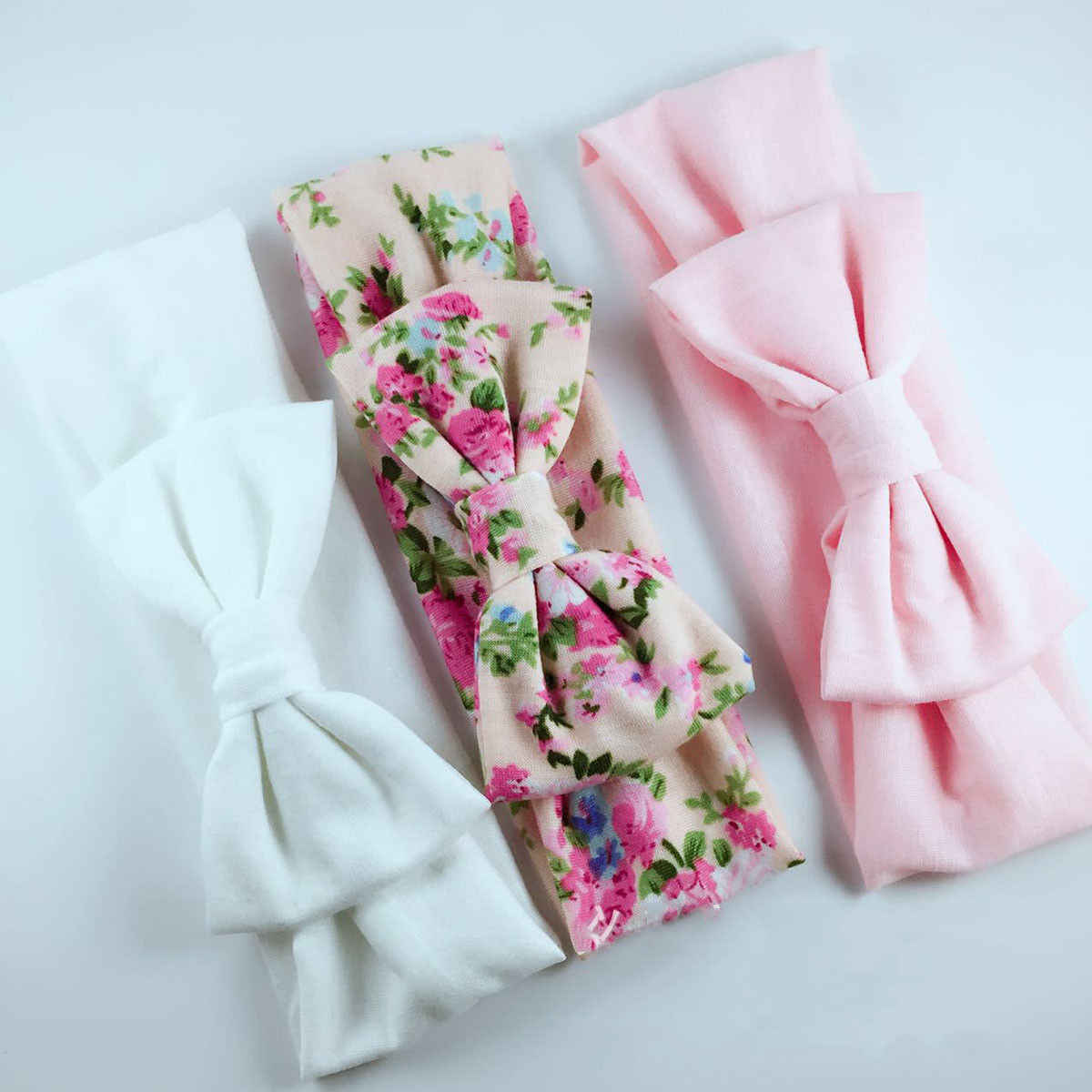 3PCS/Set Baby Girls Bow Headbands Cute Princess Elastic Hair Bands Lovely Pattern Baby Girls Kids Hair Accessories Sets