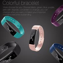Original ID115 Smart Bracelet Fitness Tracker Step Counter Fitness Watch Band Alarm Clock Vibration Wristband for iOS Android