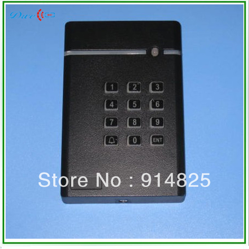 DWE CC RF Free Shipping +keypad access control +EM rfid reader + 125khz+ wiegand 26 output proximity card reader dwe cc rf 13 56 mhz outdoor rfid card reader for access control system wiegand 26 free shipping