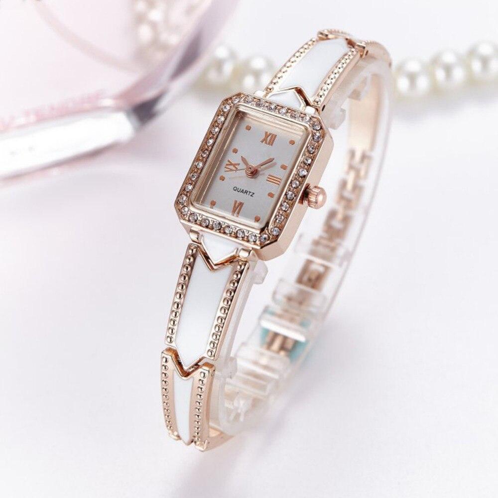 Moda de lujo para mujer reloj femenino Rhinestone Reloj de las - Relojes para mujeres