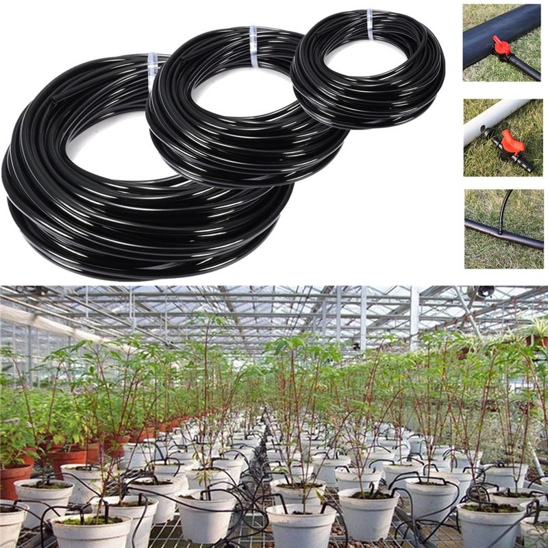 morden 5m 10m 20m watering tubing pvc hose pipe 4 7mm micro drip irrigation pipe system. Black Bedroom Furniture Sets. Home Design Ideas