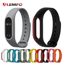Colorful Silicone Wrist Strap Bracelet Double Color Replacement watchband for Original Miband 2 Xiaomi Mi band 2 Wristbands(China)