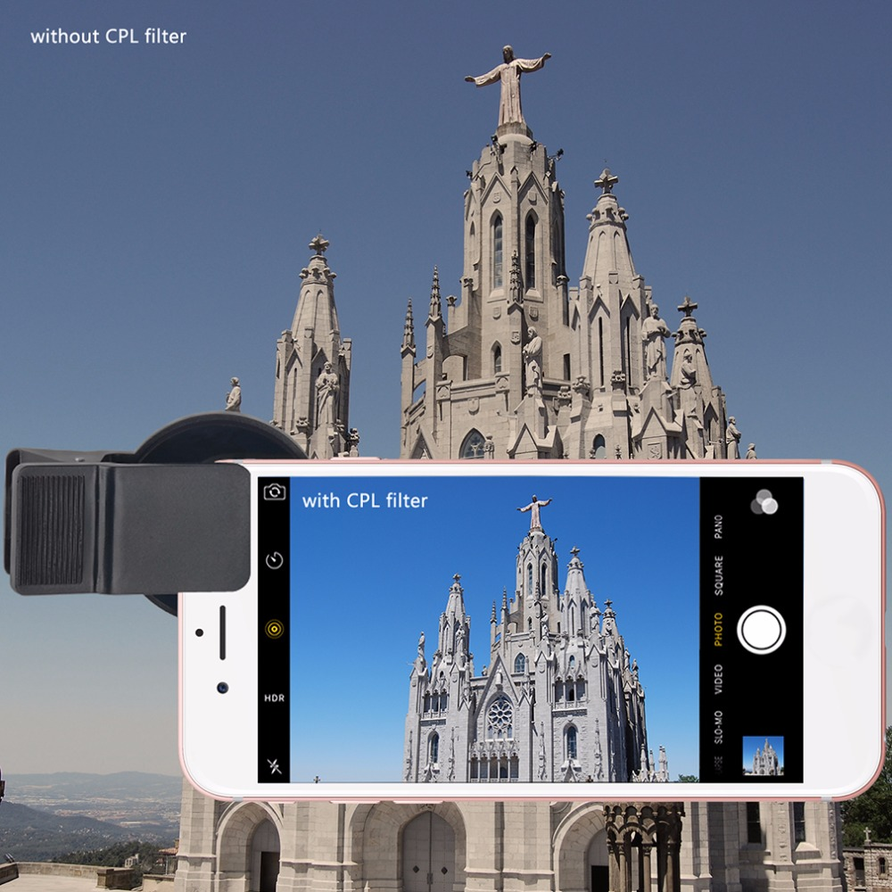 Professional Mobile Phone Lenses 3 In 1 Phone Camera Len For iPhone Samsung 37MM CPL+ Close Up Filter+ ND2-400 ND Fader Filter