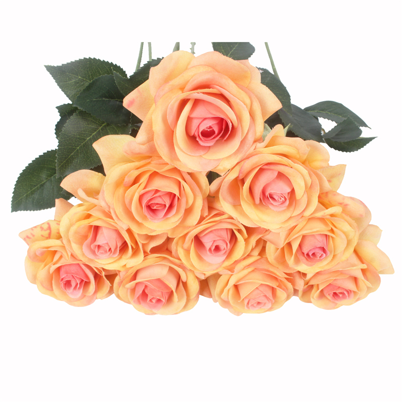 JAROWN Artificial Real Touch Hand Feel Rose Flowers For Valentine`s Day Preparation Wedding Decoration Home Decor (27)
