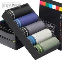 Inplusni male panties 5 gift boxer with cotton men underwear Men's shorts High Grade men underwear fashion boxers
