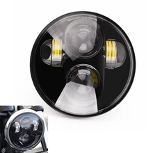 5 3/4 5.75″ Inch Round 45W Hi/Lo Beam Daymaker LED Projector Headlights For Harley Davidson Motorcycle