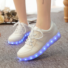 Eur size 35-46 tenis led feminino simulation Basket LED Running Shoes  Light Up trainers Luminous glowing Sneakers led slippers