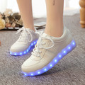Tamaño del eur 35-46 tenis feminino led simulación cesta led running shoes light up entrenadores zapatillas luminoso que brilla intensamente led zapatillas