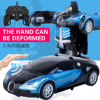 Hot Sales Luxury Sports Car Models Gesture Deformation Robot Transformation Remote Control RC Car Toys Gift