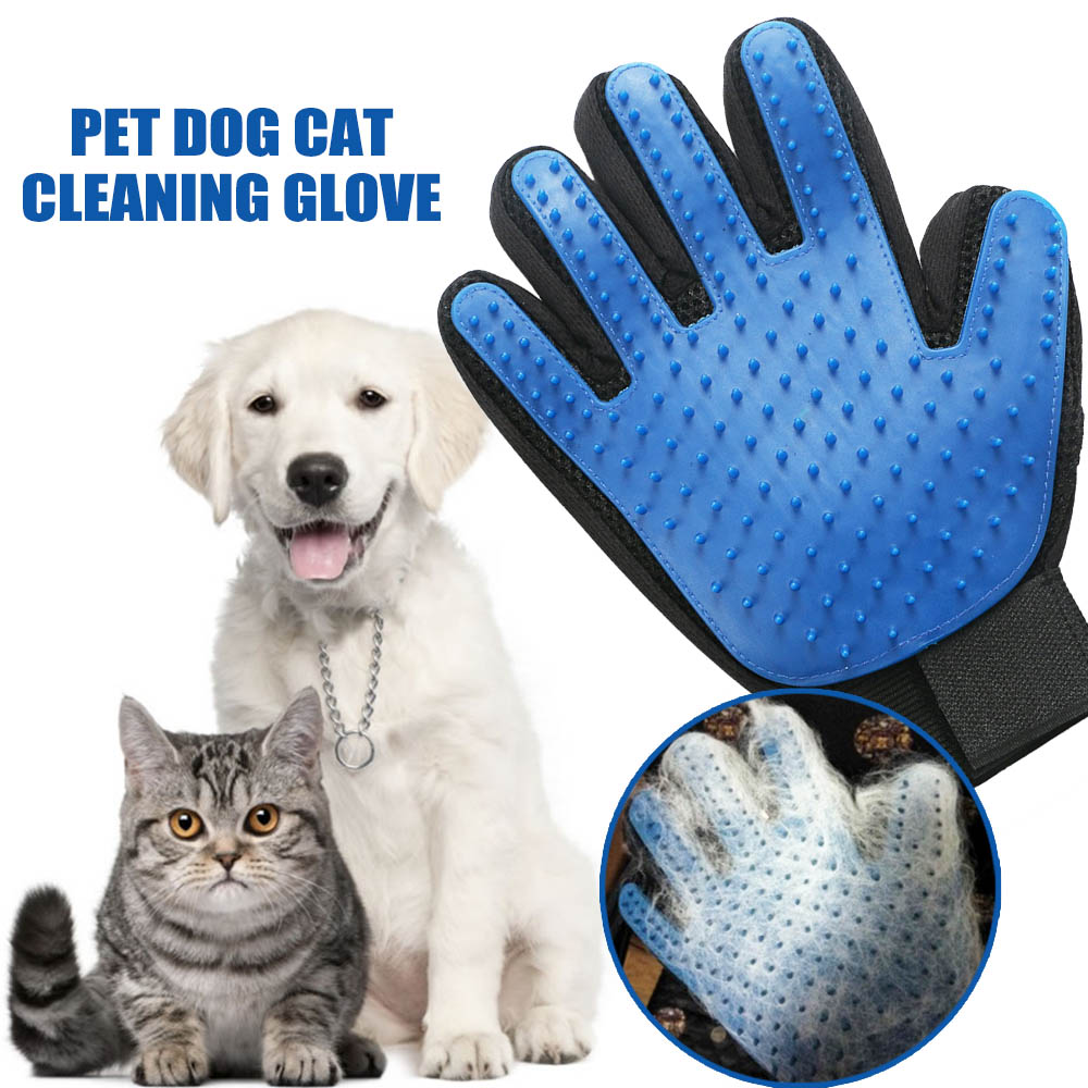 New Style Silicone Pet Grooming Cleaning Glove Deshedding left/Right Handed Dog Cat Hair Removal Brush Humanized Palm Design 19