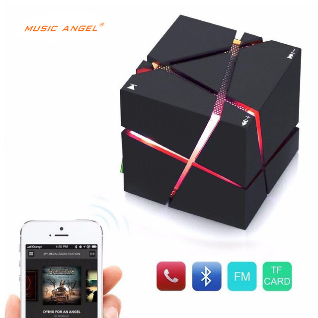 Cool Colorful Qone Portable Mini Bluetooth Speaker LED 3W Stereo Sound Box Mp3 Player Subwoofer Speakers Built-in 500mAh Battery