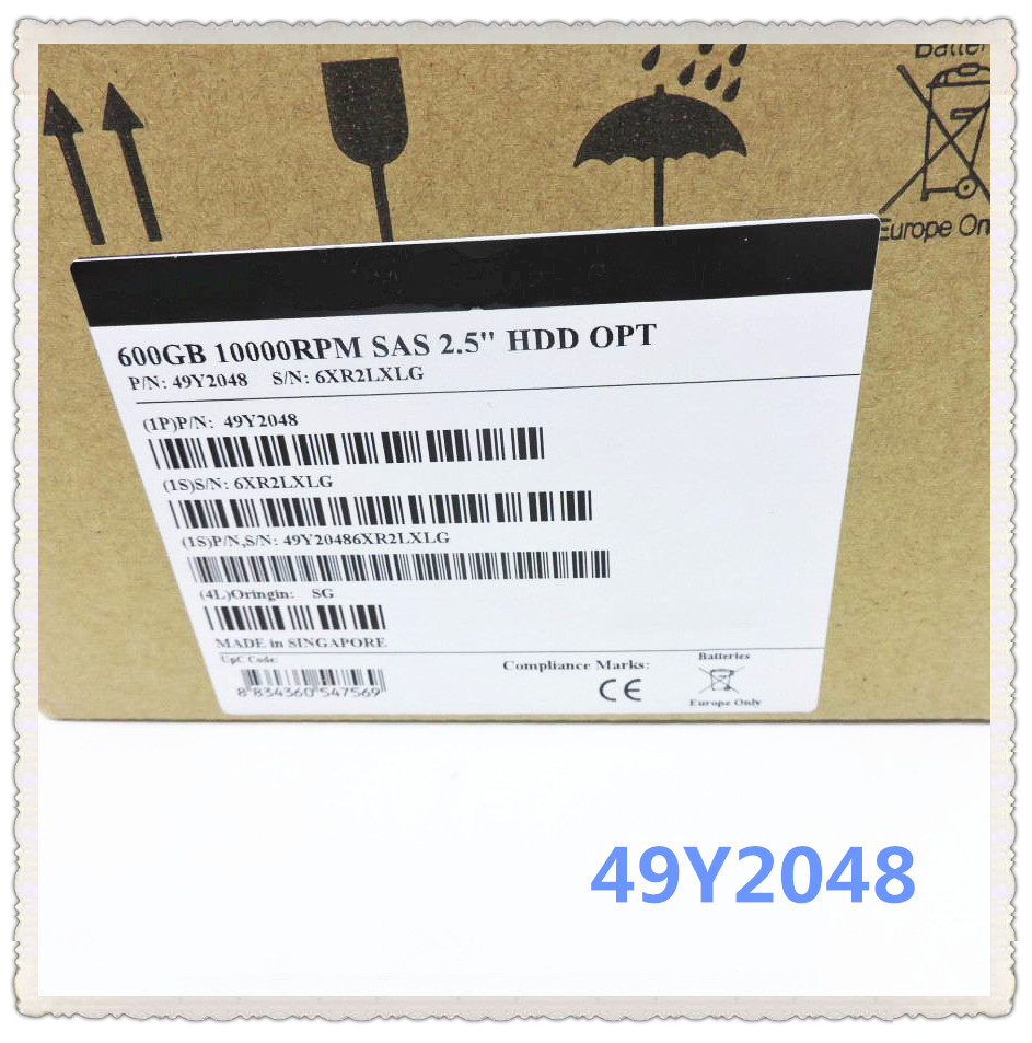 49Y2048 49Y2052 600G SAS 2.5 DS3524 10 K Garantir Novo na caixa original. Prometeu enviar em 24 horas