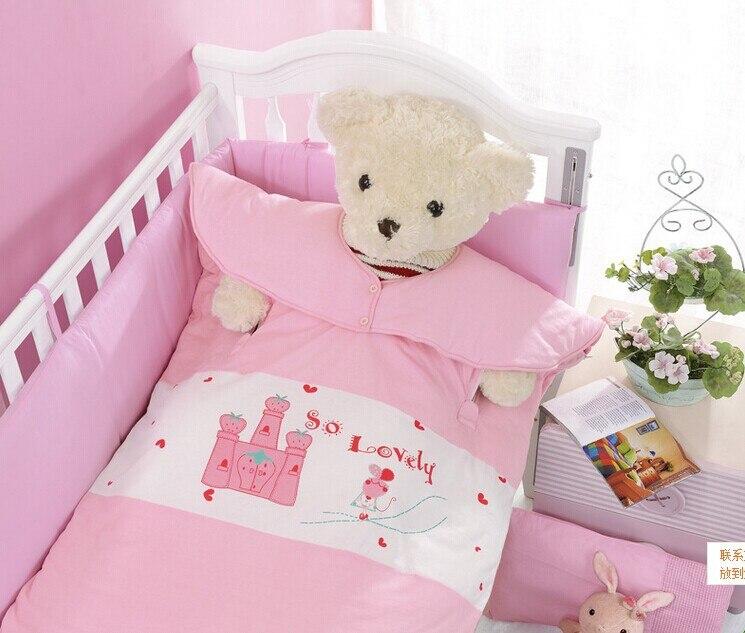 Модные Демисезонный хлопка спальный мешок милый мультфильм Anti kick для маленьких детей спальный мешок с начинкой