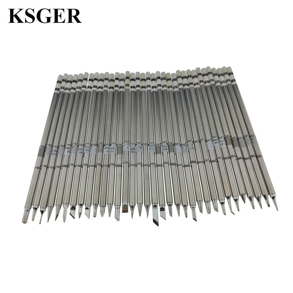 ksger electronic tools soldering iron tip for fx951 diy soldering station 24v t12 solder. Black Bedroom Furniture Sets. Home Design Ideas