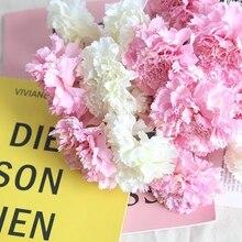 цены 1 pc Wedding Artificial Flowers Silk Carnation Stamen Carnation Silk Flower Carnation Artificial Flowers Fake Carnation Flower
