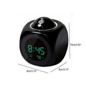 Backlight Electronic Digital Projector Watch Desk Temperature Voice Display LED Projection Voice Talking Alarm Clock Plastic