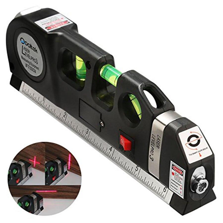 VOTO Laser livello Laser livellamento 3 Linee Nivel Profissional Vertical Horizon 5.5 m Righello Multiuso Misura Level-lv03