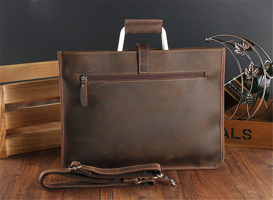 HTB14uGzc98YBeNkSnb4q6yevFXav Joyir 2019 Crazy horse leather briefcase for man coffee color vintage men genuine leather messenger bag business bags male