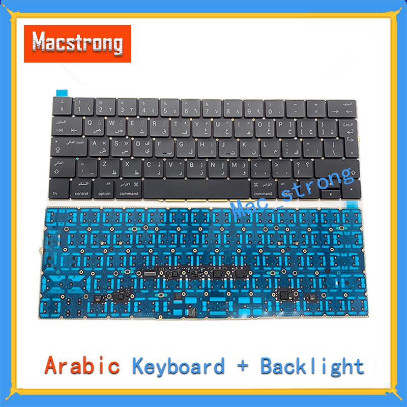 Brand New Original 15 A1707 Arabic Keyboard For Macbook Pro Retina 13 A1706 Arabic Keyboard With Backlight 2016 2017 image