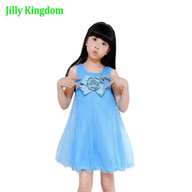 2019 vestido de niña de estilo de verano vestido de bebé de - Ropa de ninos