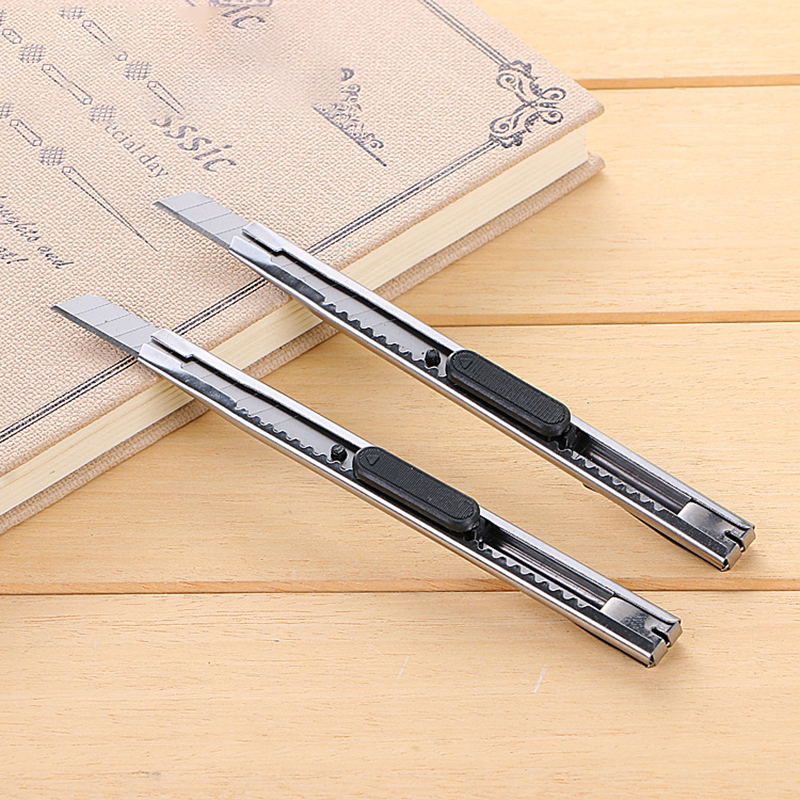 2 PCS Mini Stainless Steel Stationery Knife Box Cutter Blades Cute Kawaii Utility Knives For Decoration Office School Supplies