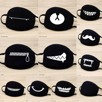 1 Pcs 12 Style Cotton Masks Keep Warm Cartoon Lovely Face Mouth Mask Camouflage Mouth Muffle Respirator Unisex