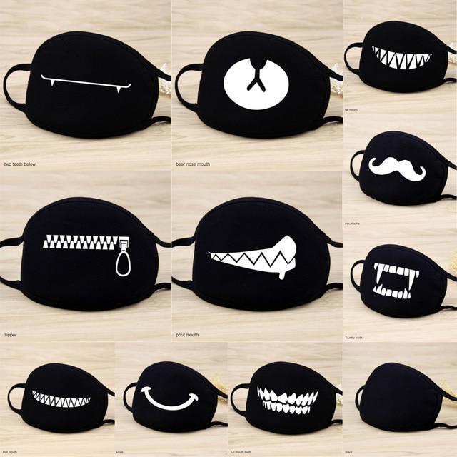 1 Pcs 12 Style Cotton Masks Keep Warm Cartoon Lovely Face Mouth Mask Camouflage Mouth Muffle Respirator Unisex