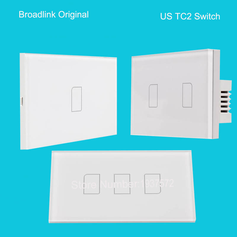 2016 New Broadlink US TC2 1 Gang+2Gang +3 Gang Smart Home Automation Wireless Remote Control 433MHZ Wifi Wall Light Touch Switch eu us smart home remote touch switch 1 gang 1 way itead sonoff crystal glass panel touch switch touch switch wifi led backlight