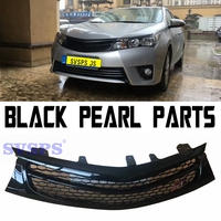 Car styling tuning High Quality ABS Chrome Front Middle Grille Grill GT Styles For Toyota Corolla E170 Vehicle 2014 2018 year