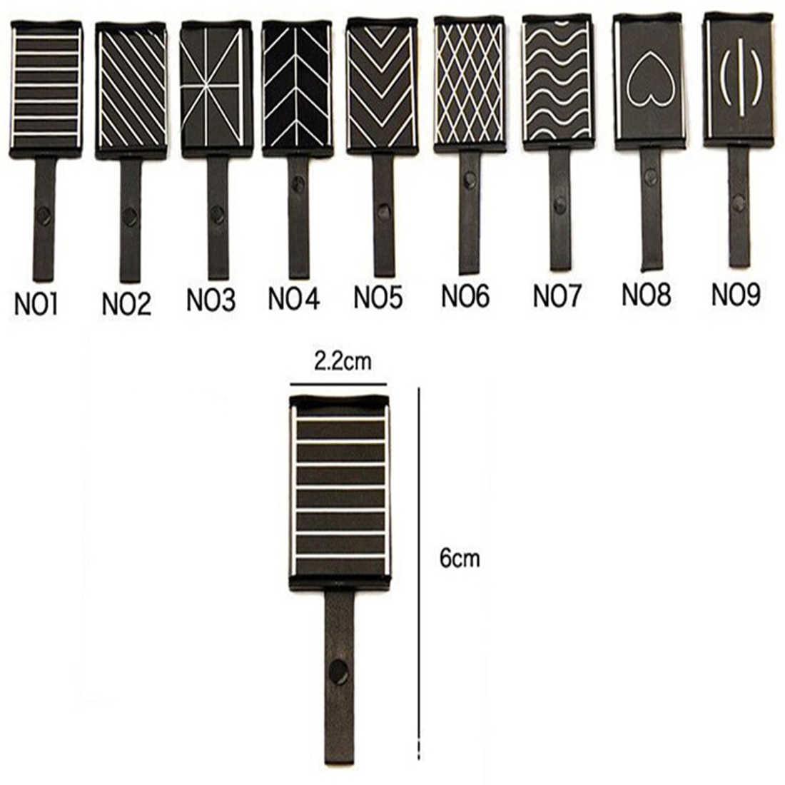 Kocie oko żelowy lakier do paznokci uv DIY Nail Art patyczek magnetyczny narzędzia 3D magiczne naklejki 9 wzorów EffectsStrong magnes do gradientów